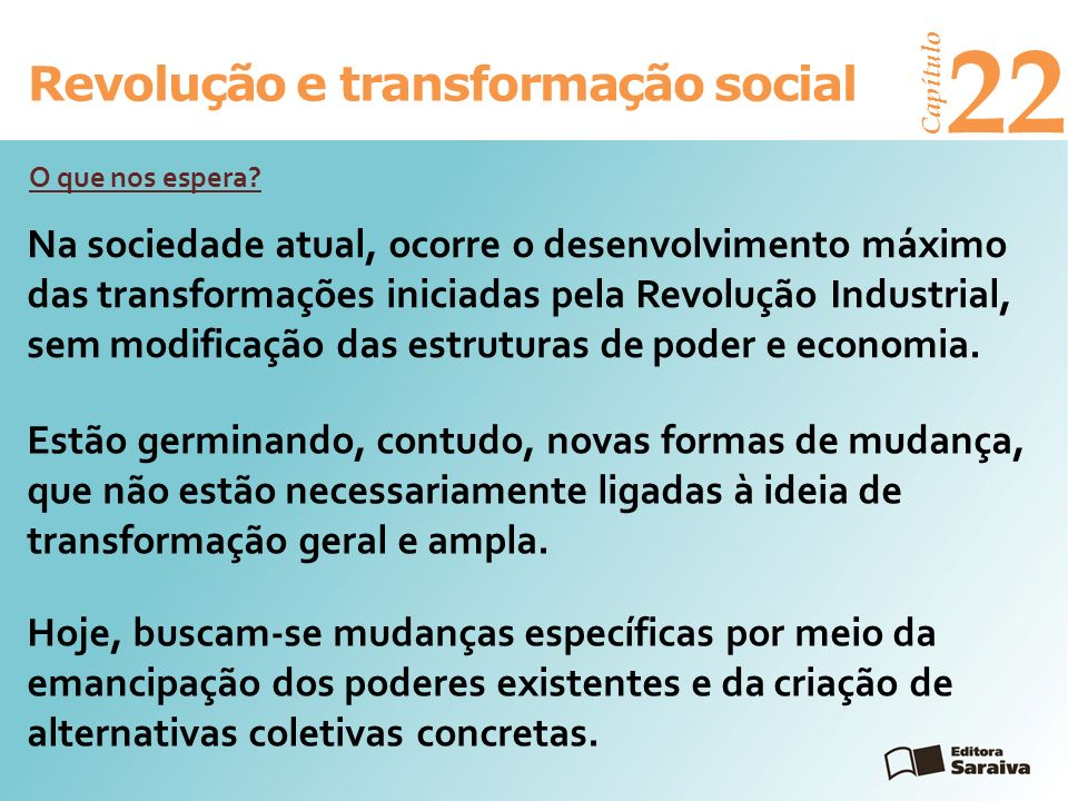 22 Revolução e transformação social