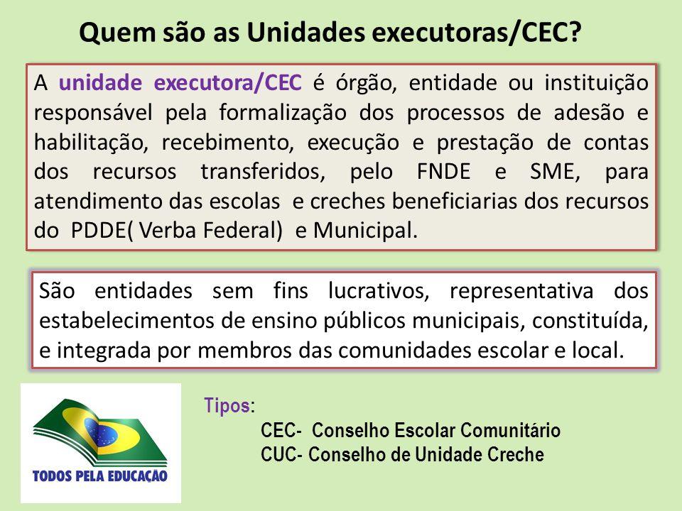 Quem são as Unidades executoras/CEC