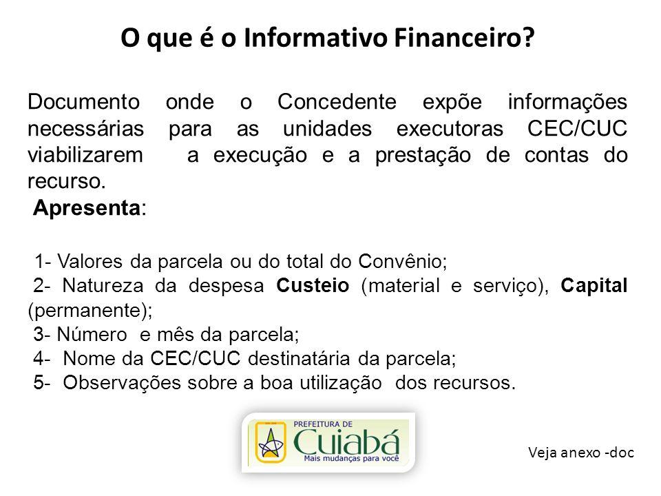 O que é o Informativo Financeiro