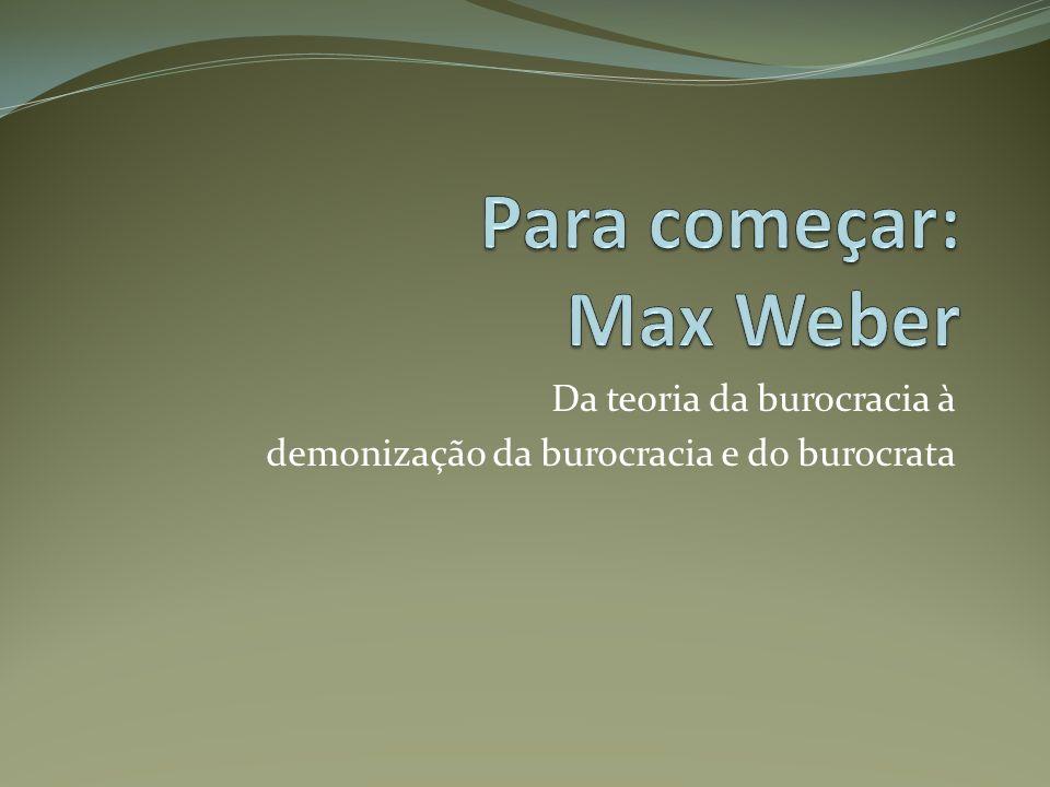 Para começar: Max Weber