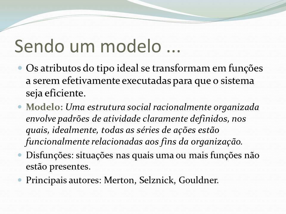 Sendo um modelo ... Os atributos do tipo ideal se transformam em funções a serem efetivamente executadas para que o sistema seja eficiente.