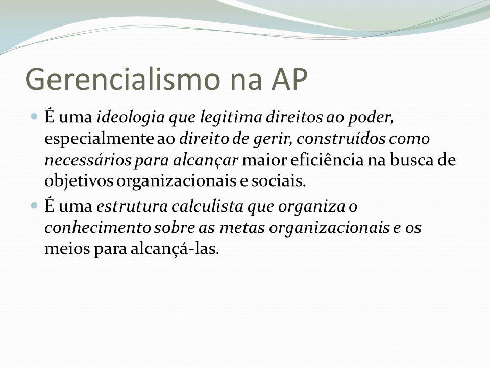 Gerencialismo na AP