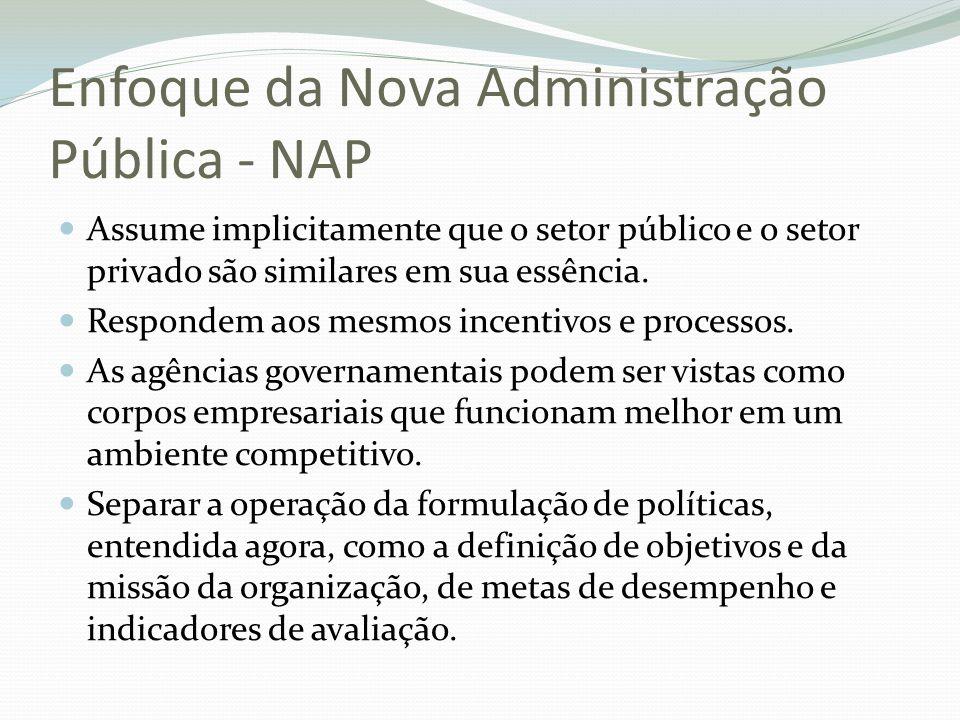 Enfoque da Nova Administração Pública - NAP
