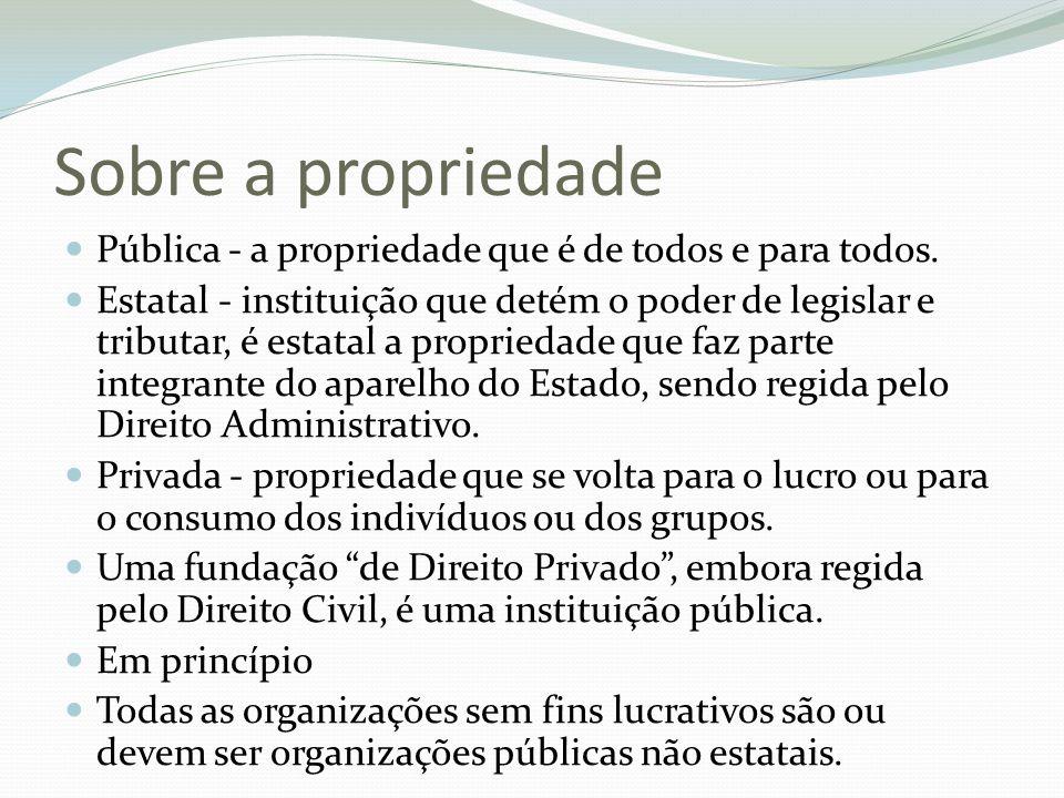 Sobre a propriedade Pública - a propriedade que é de todos e para todos.
