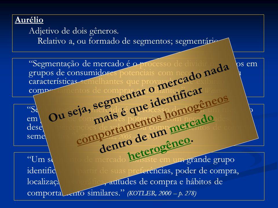 Aurélio Adjetivo de dois gêneros. Relativo a, ou formado de segmentos; segmentário.