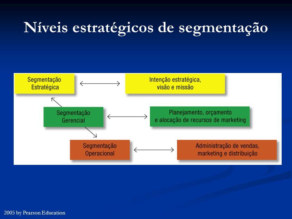 Níveis estratégicos de segmentação