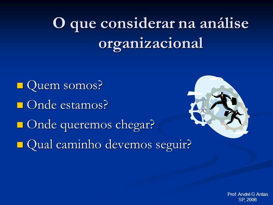 O que considerar na análise organizacional