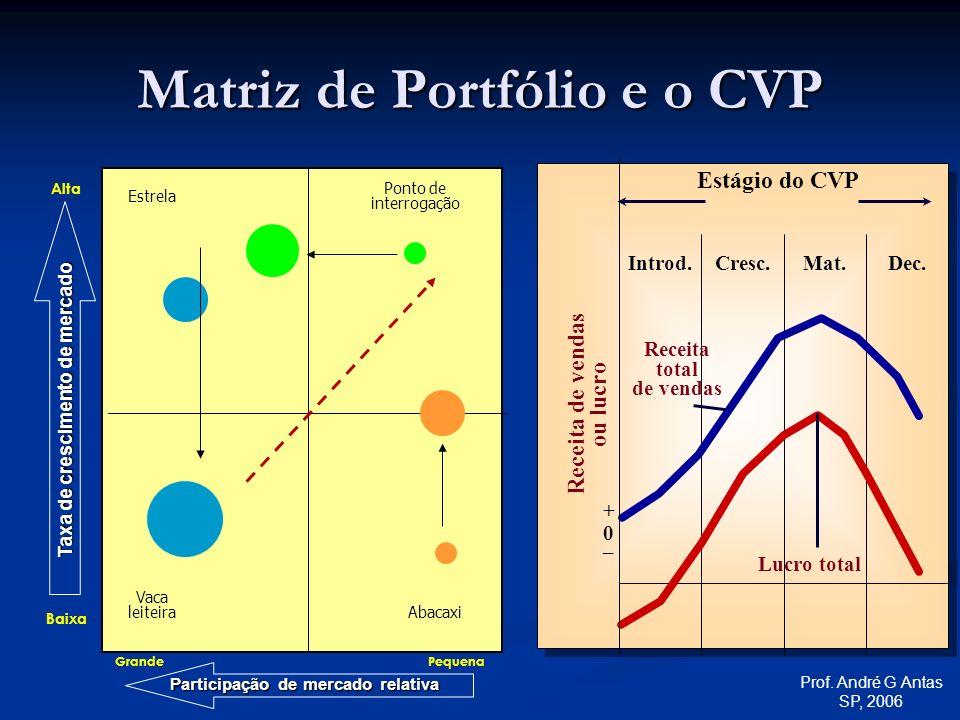 Matriz de Portfólio e o CVP