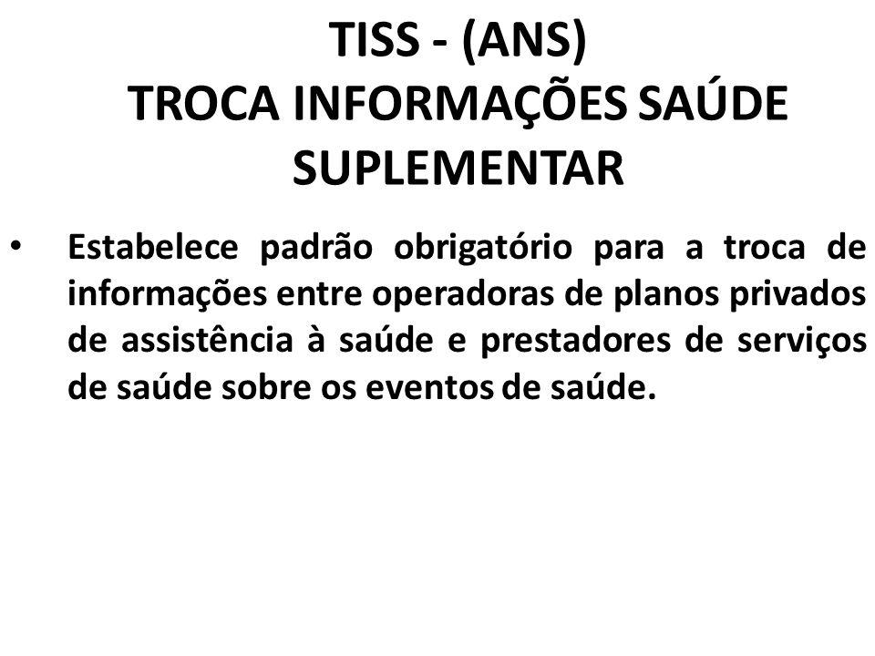 TISS - (ANS) TROCA INFORMAÇÕES SAÚDE SUPLEMENTAR