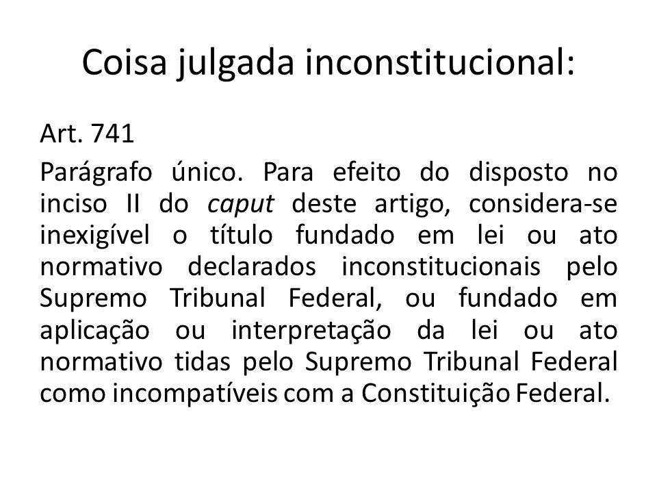 Coisa julgada inconstitucional: