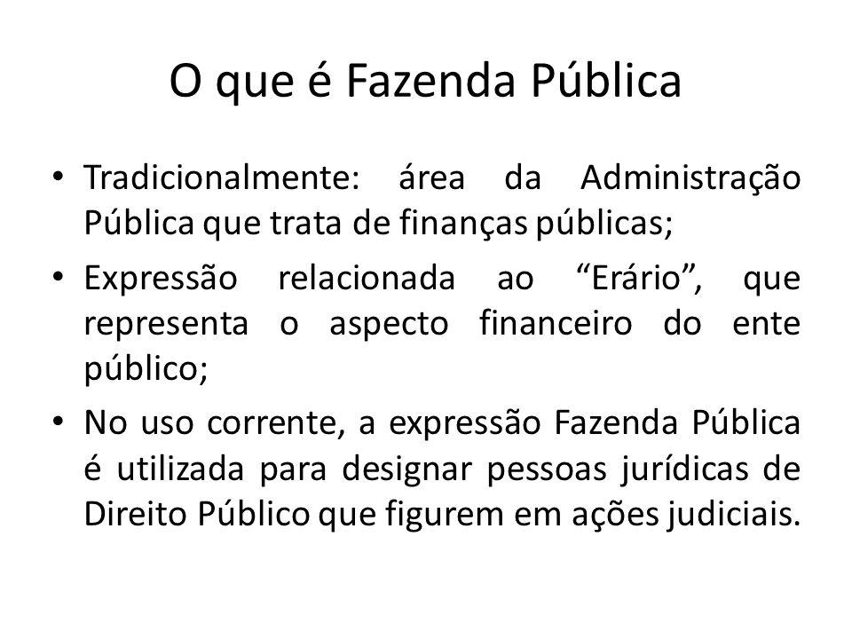 O que é Fazenda Pública Tradicionalmente: área da Administração Pública que trata de finanças públicas;