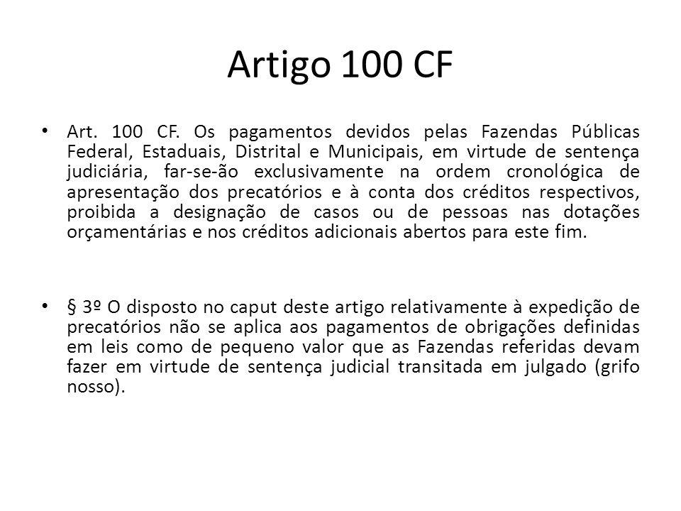 Artigo 100 CF