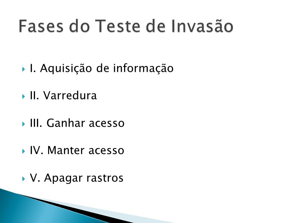 Fases do Teste de Invasão