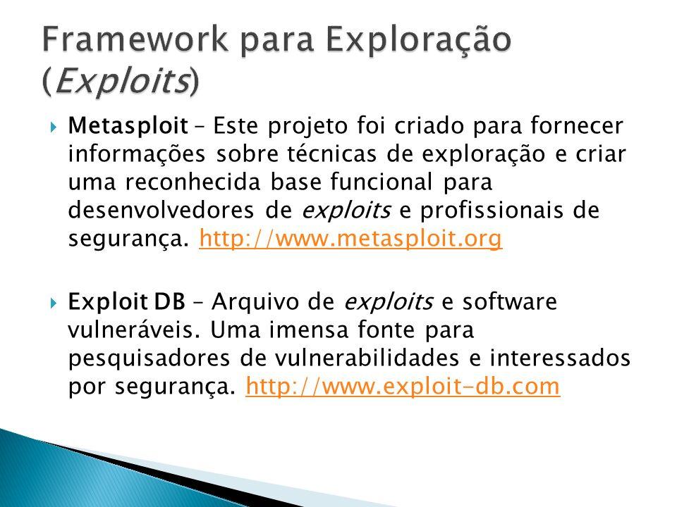 Framework para Exploração (Exploits)
