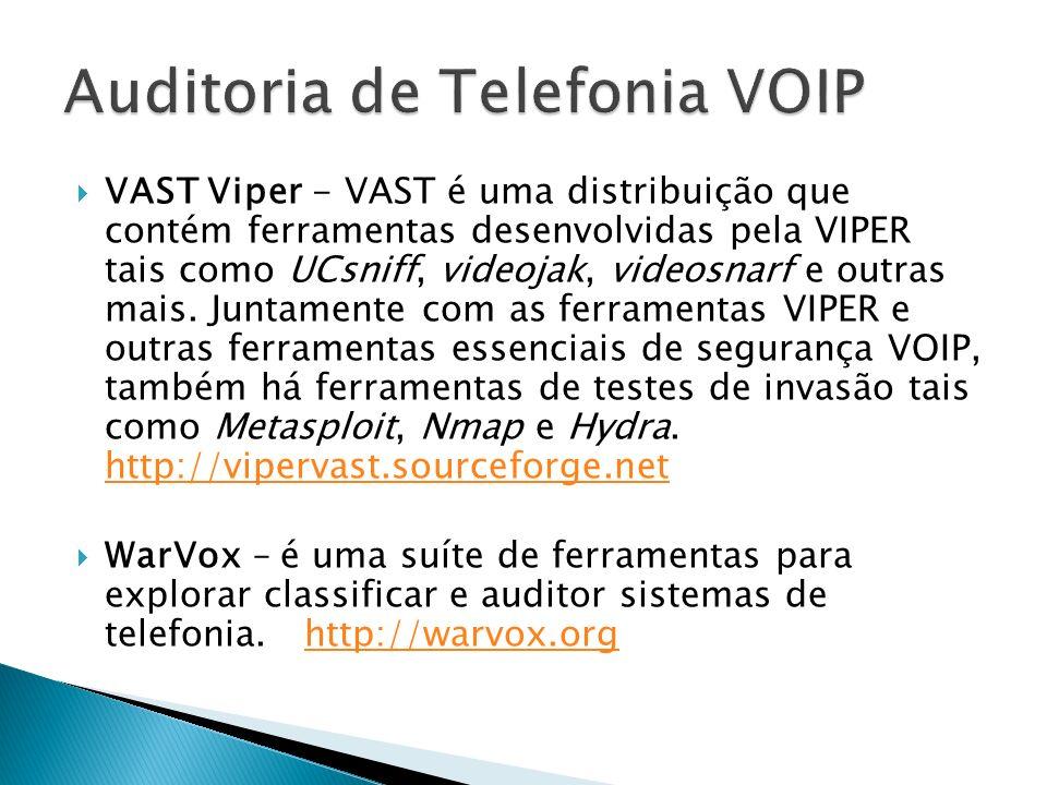 Auditoria de Telefonia VOIP