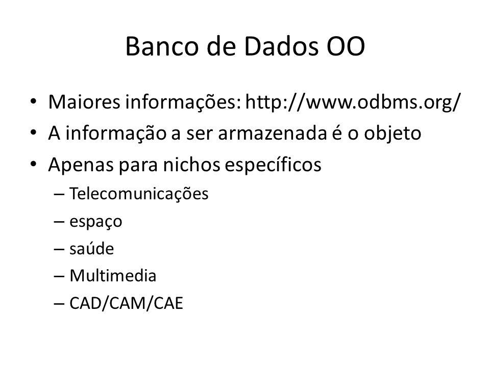 Banco de Dados OO Maiores informações: http://www.odbms.org/