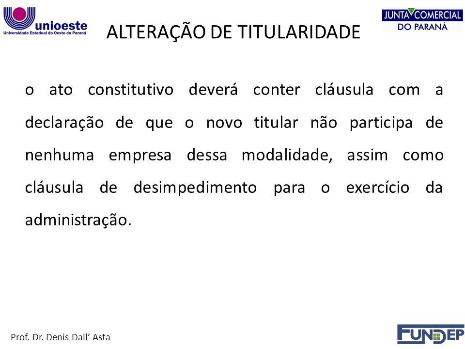 ALTERAÇÃO DE TITULARIDADE