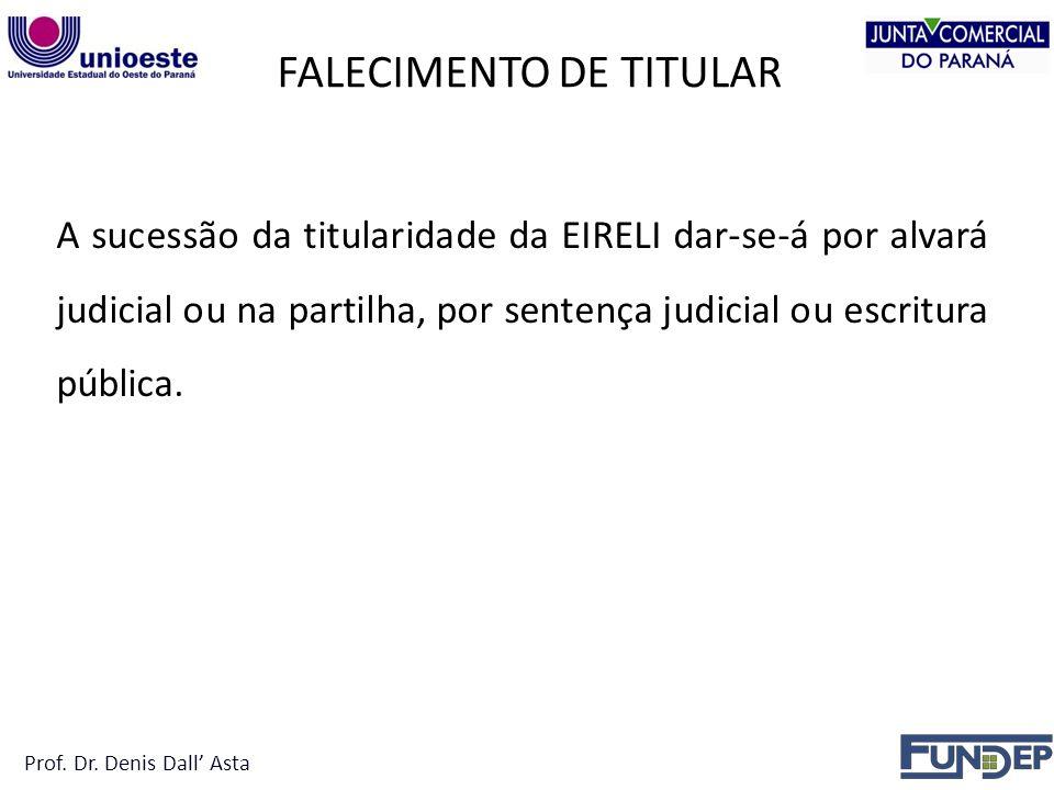 FALECIMENTO DE TITULAR