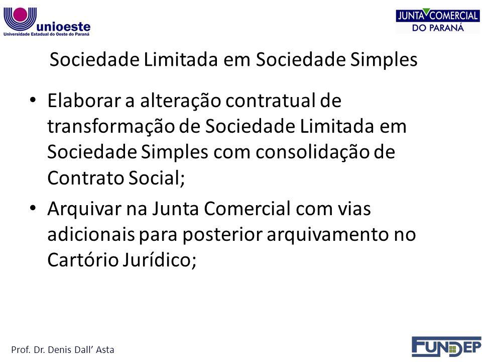 Sociedade Limitada em Sociedade Simples