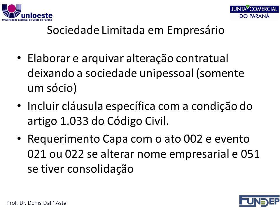 Sociedade Limitada em Empresário