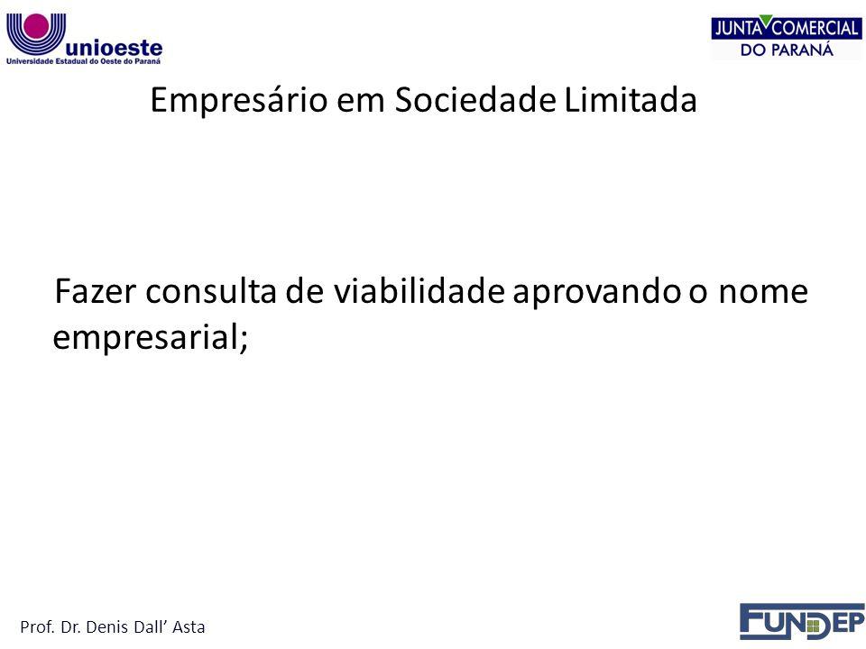 Empresário em Sociedade Limitada