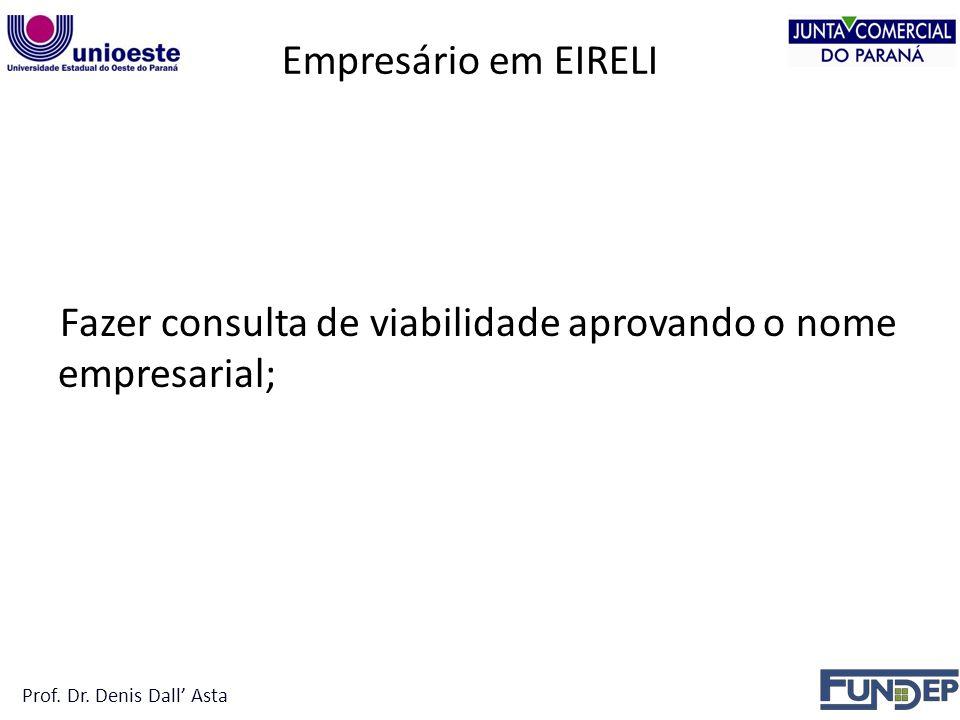 Fazer consulta de viabilidade aprovando o nome empresarial;