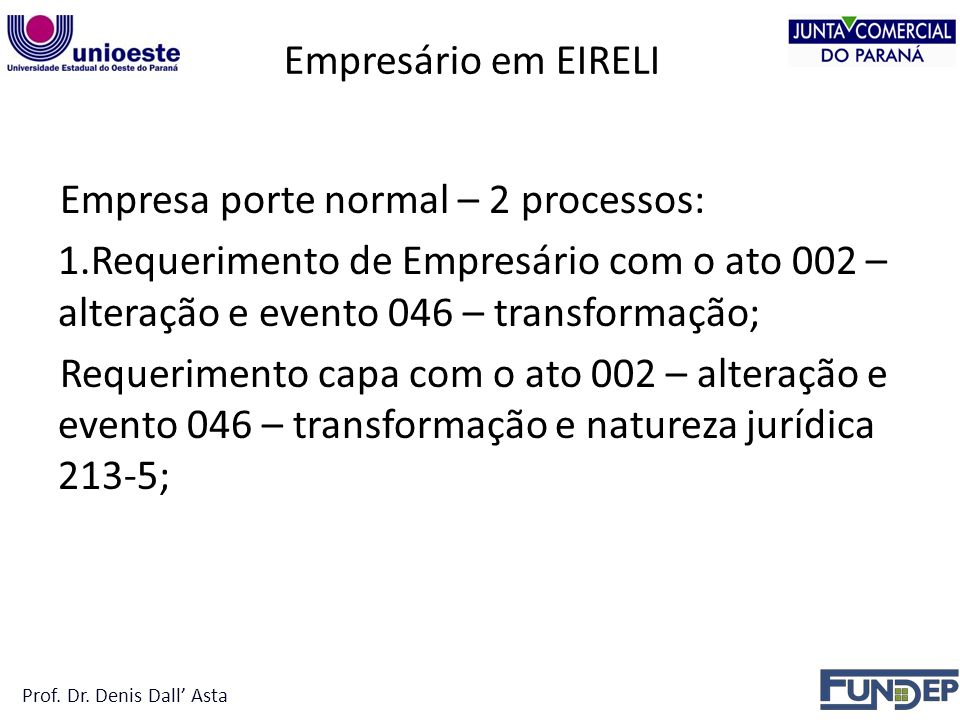 Empresa porte normal – 2 processos: