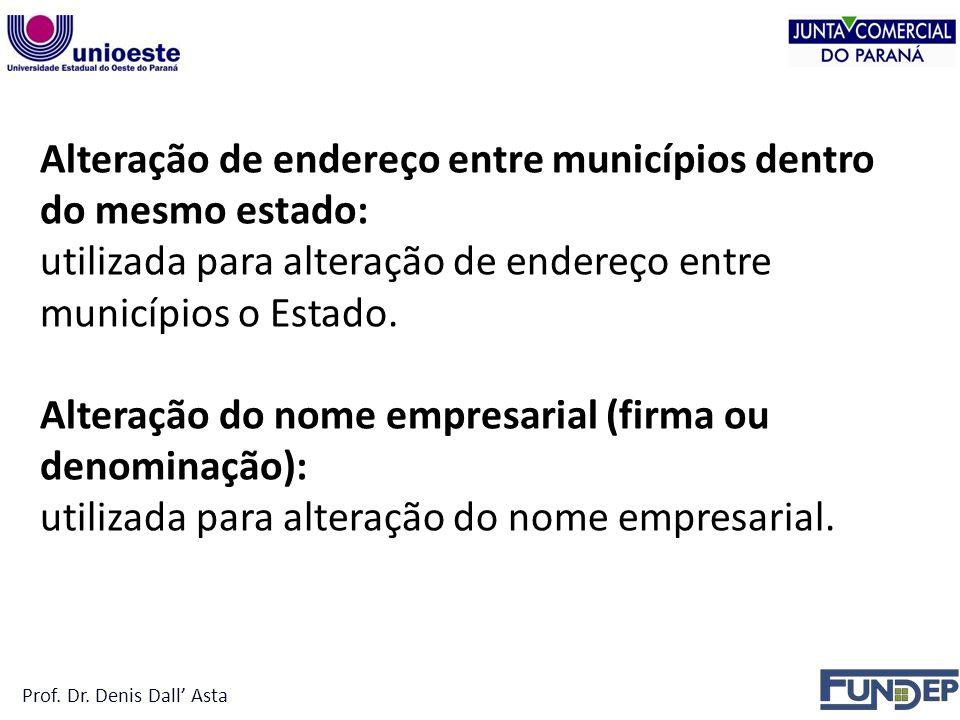 Alteração de endereço entre municípios dentro do mesmo estado: