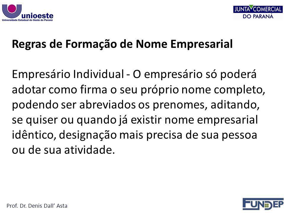 Regras de Formação de Nome Empresarial
