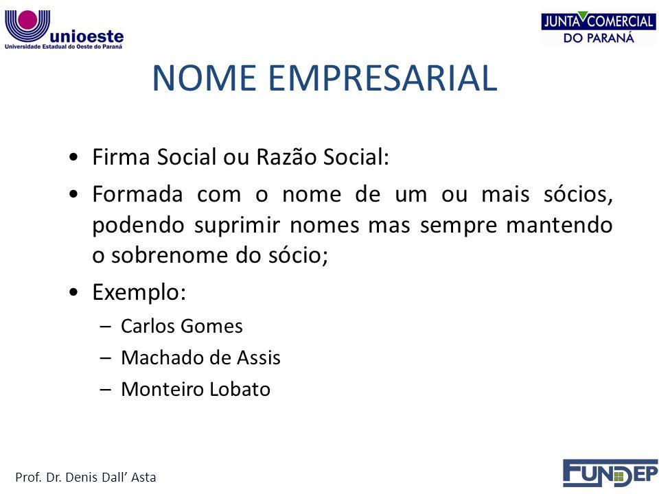 NOME EMPRESARIAL Firma Social ou Razão Social: