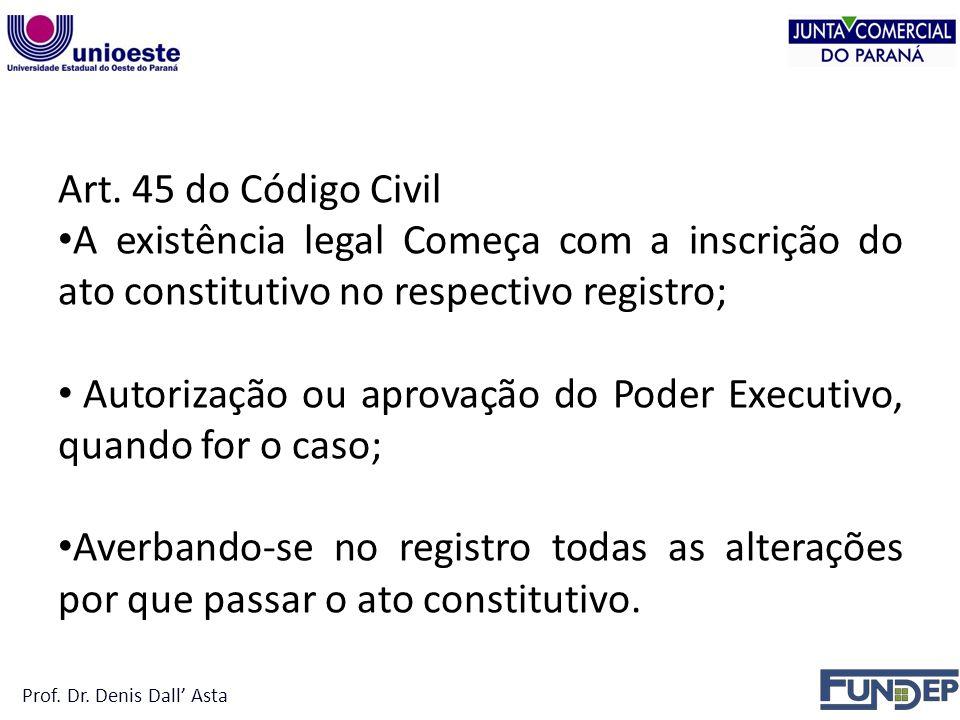 Autorização ou aprovação do Poder Executivo, quando for o caso;