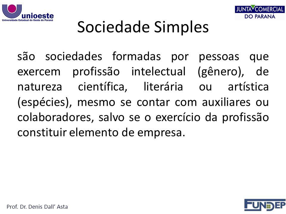 Sociedade Simples SOCIEDADE SIMPLES