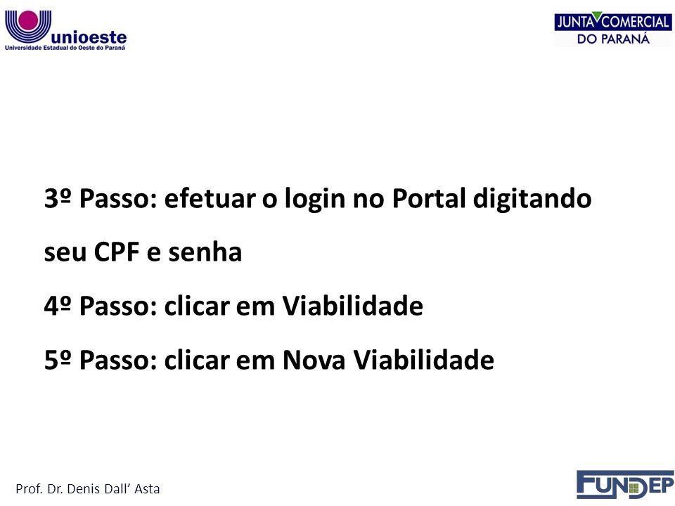 3º Passo: efetuar o login no Portal digitando seu CPF e senha