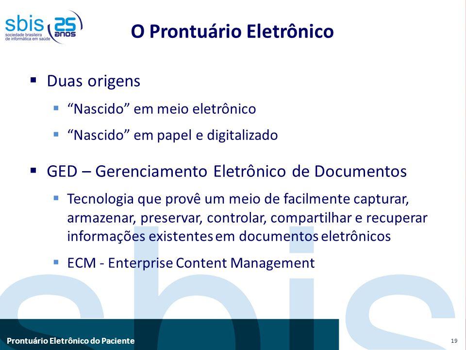 O Prontuário Eletrônico