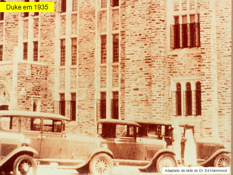 Duke em 1935 Adaptado de slide do Dr. Ed Hammond
