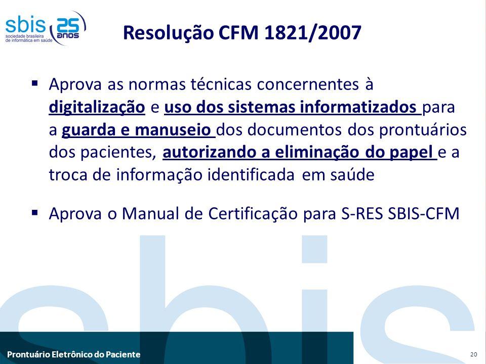 Resolução CFM 1821/2007