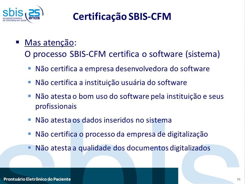 Certificação SBIS-CFM