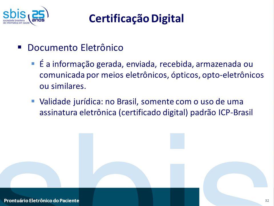 Certificação Digital Documento Eletrônico