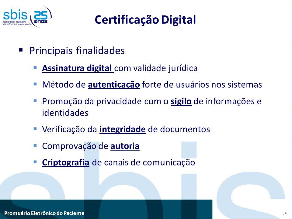 Certificação Digital Principais finalidades