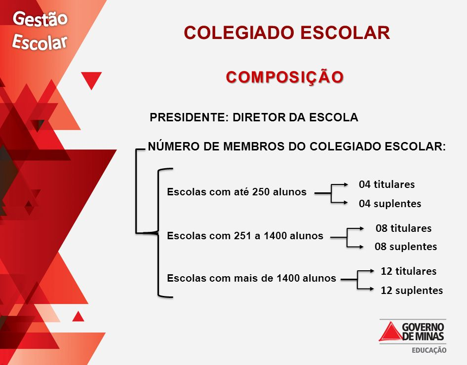PRESIDENTE: DIRETOR DA ESCOLA