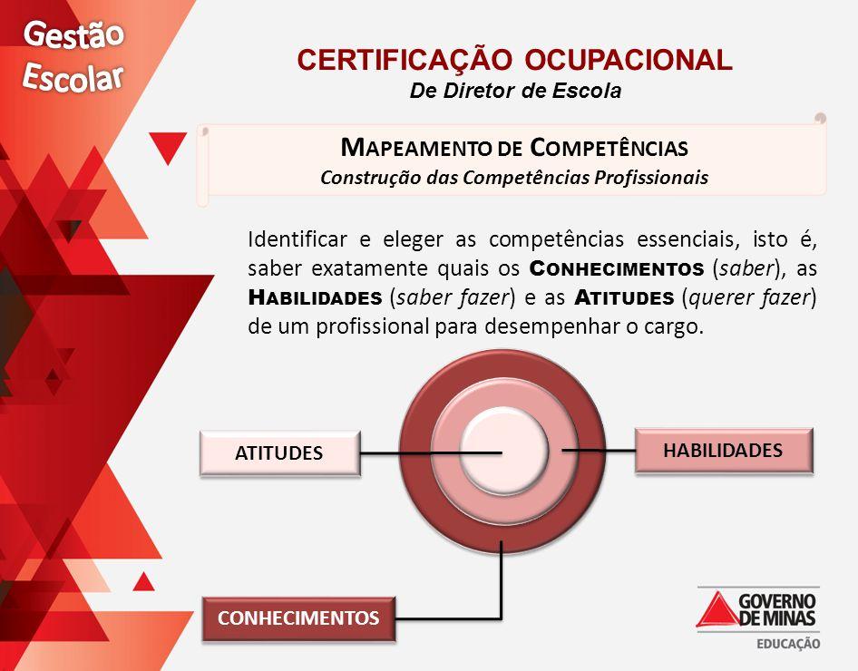 Gestão Escolar Certificação ocupacional Mapeamento de Competências