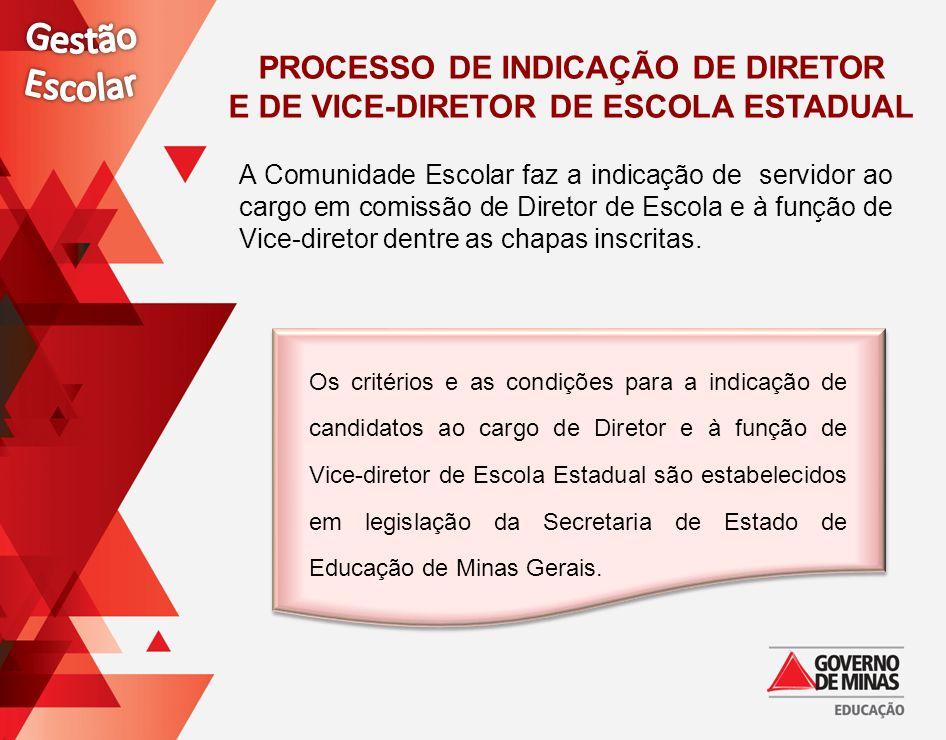 Processo de Indicação de Diretor e de Vice-Diretor DE ESCOLA ESTADUAL