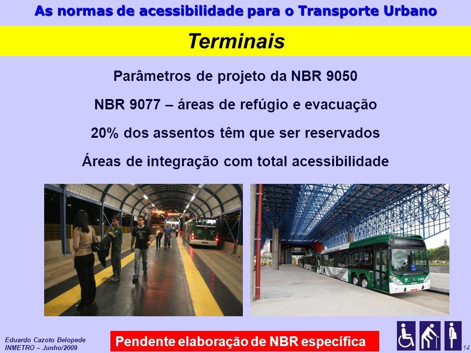 Terminais Parâmetros de projeto da NBR 9050