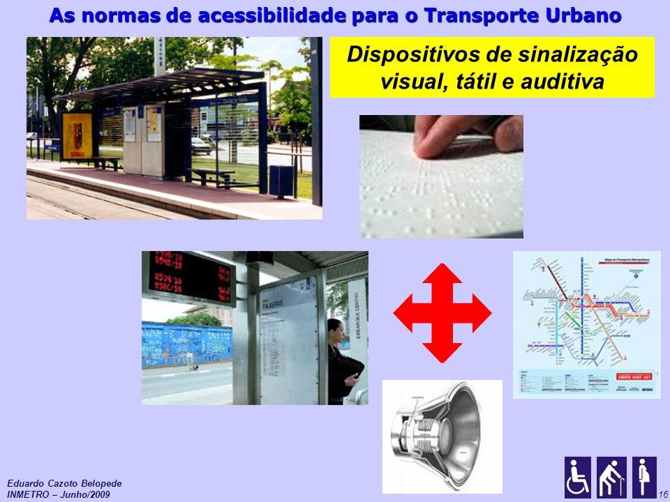 Dispositivos de sinalização visual, tátil e auditiva