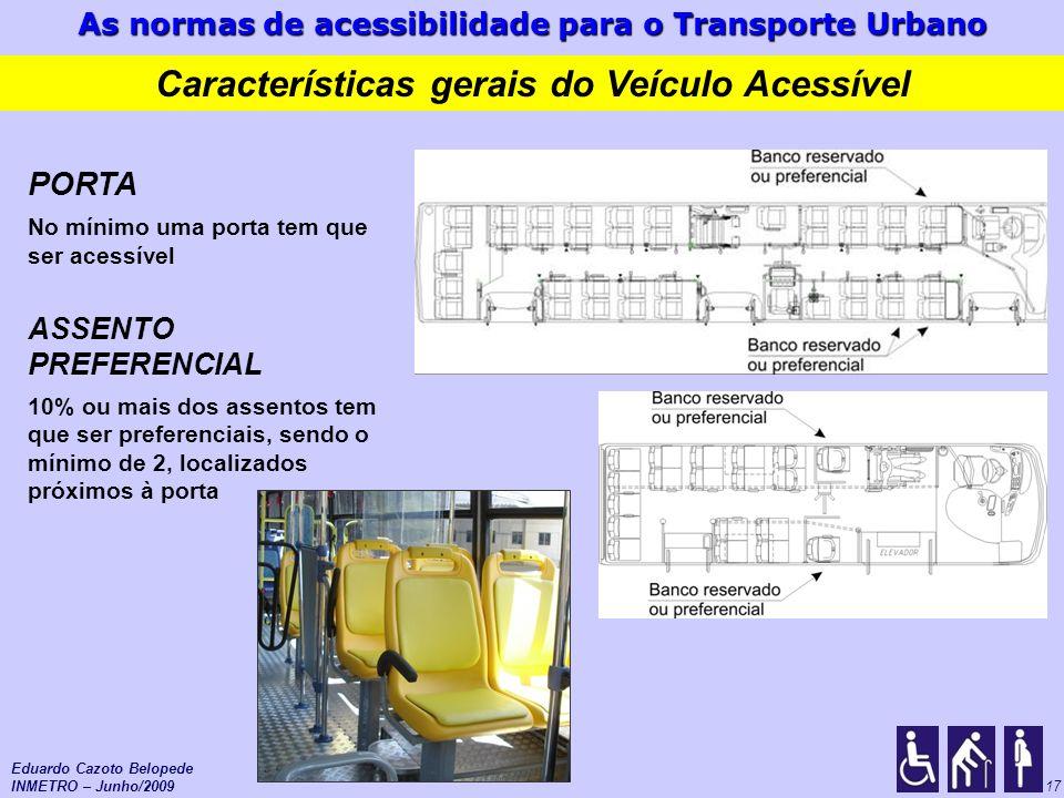 Características gerais do Veículo Acessível