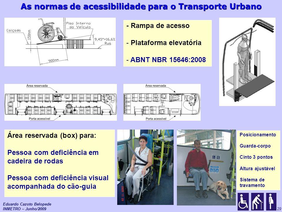 Plataforma elevatória ABNT NBR 15646:2008
