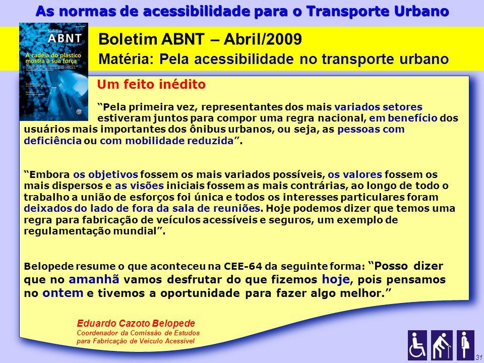 Matéria: Pela acessibilidade no transporte urbano