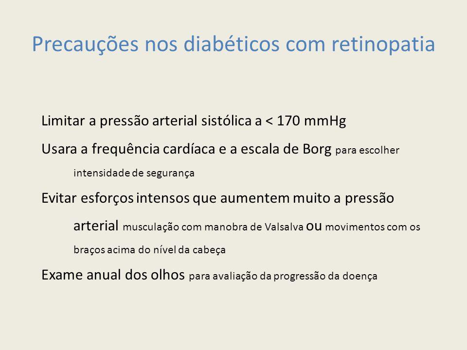 Precauções nos diabéticos com retinopatia