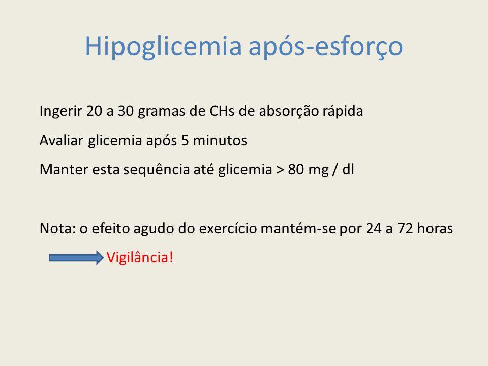 Hipoglicemia após-esforço