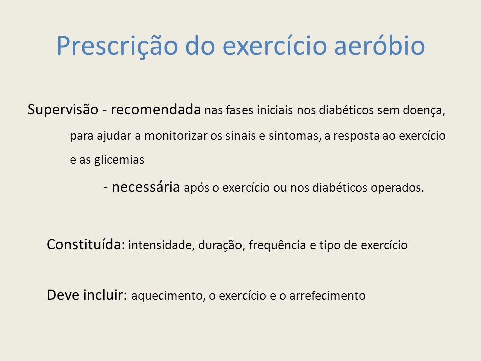 Prescrição do exercício aeróbio